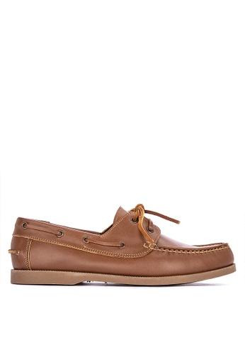Brogue & Derby brown Didier Genuine Leather Boat Shoes 2AF32SHD14C6F7GS_1