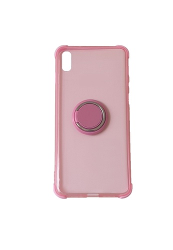 MobileHub pink iPhone XS Max Silicone Clear Case with X-Ring E36A1ACEF24E5FGS_1