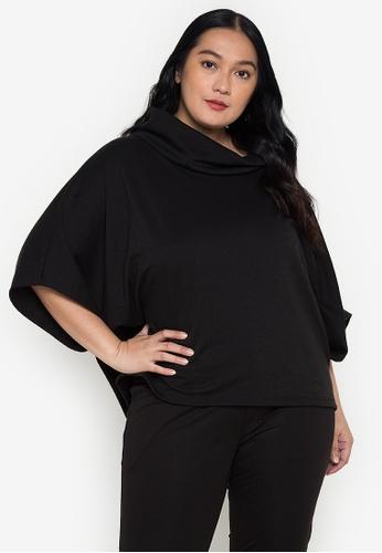 Amelia black Plus Size Carmela Top 7D0BDAABF0B7AAGS_1