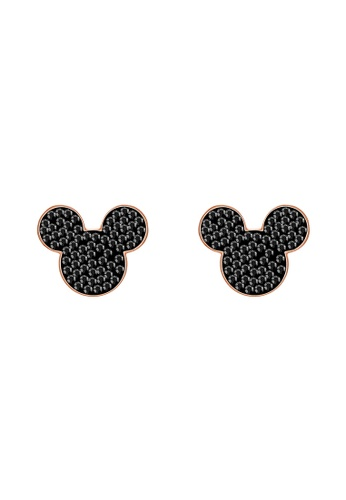 Swarovski gold Mickey Stud Pierced Earrings B64C1AC617EA95GS_1