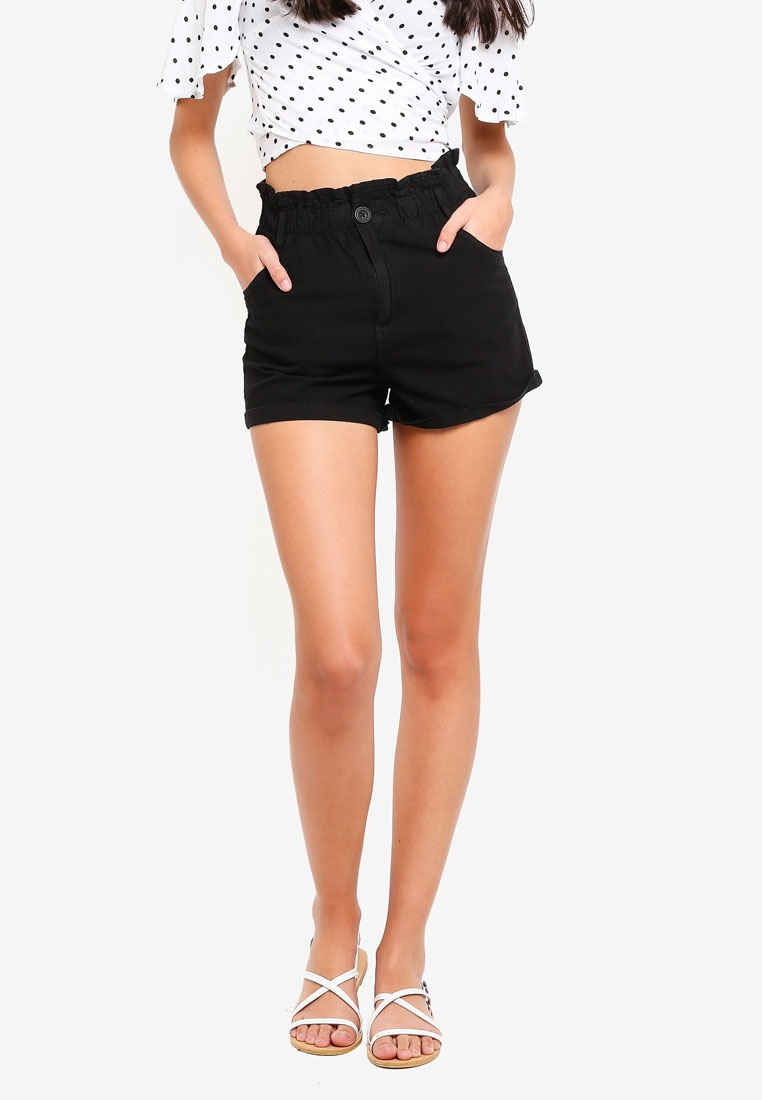 Waist Newport Shorts Supre Paperbag Black P6pCvWqv