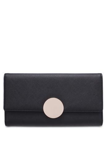 ZALORA black Long Wallet with Metal Buckle CBC5BZZFD90819GS_1