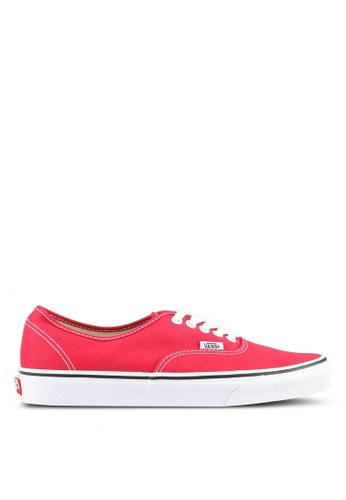VANS white and red Authentic Sneakers VA142SH0SWR0MY_1