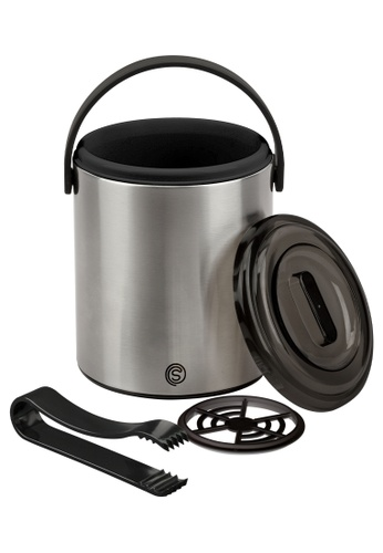 Slique silver Premium Insulated Ice Bucket With Tong Stainless Steel 1600ml 469BDHL2FF8A9AGS_1