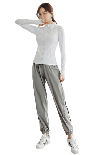 YG Fitness multi (4PCS) Quick-Drying Running Fitness Yoga Dance Suit (Tops+Bra+Bottoms+Jackets) 373AAUS7CD8637GS_1
