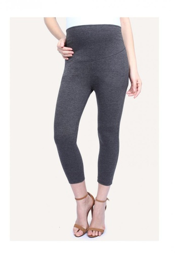f28e79688d0fc 9months Maternity black and grey Full Panel Cropped Leggings  1CBD9AA7895C1DGS_1