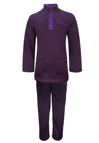 Pacolino purple Baju Melayu Cekak Musang with pants - EBM17886 (Purple) 2A820AA8B088A8GS_1
