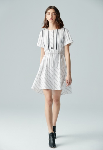 iROO multi Stripe Short Dress 74C50AA9513185GS_1