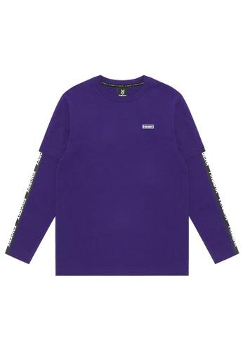 Fingercroxx purple Logo tee 7F981AA647DB3DGS_1