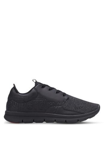 Superdry black Superdry Scuba Runner Sneakers SU137SH0S4CDMY_1