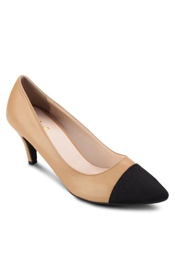 撞zalora 包包 ptt色皮革尖頭高跟鞋, 女鞋, 鞋