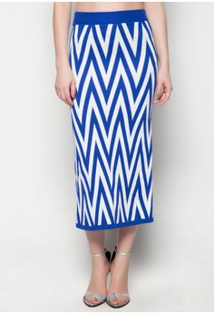 Maxi Knitted Skirt Zia Printed Design