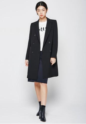 雙排esprit 兼職鈕長版外套, 服飾, 夾克 & 大衣