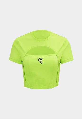 Pomelo green The Powerpuff Girls Cutout Top - Green EDE1AAA76B0133GS_1