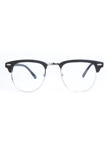 Kyfer's Eyewear & Essentials black Vintage Half Rim Clubmaster (Matt) KY376AC67RPGSG_1