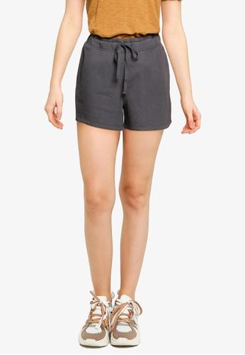 GAP black V-Nl Fleece Shorts 24495AA7AC7890GS_1