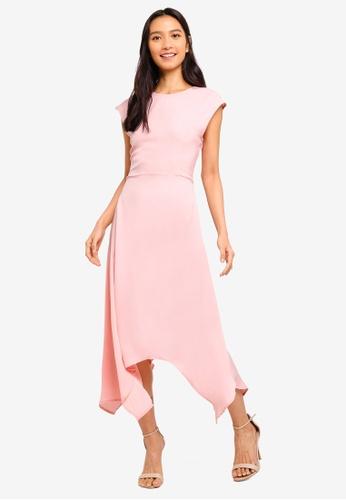 ZALORA pink High Low Hem Dress 1EF9CAA156256CGS_1