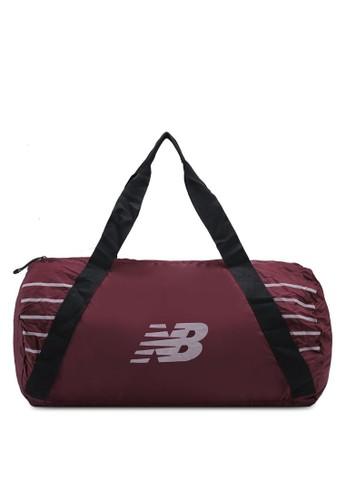 New Balance red Packable Duffel Bag 7DEB1ACAC5B1E0GS_1