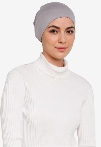 Hijabii grey Naia Tie Back Snowcap in Light Grey 05C7FAAD2CA7FCGS_1