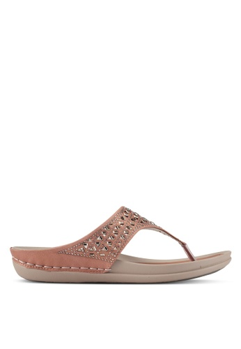 Noveni pink T-Strap Sandals NO978SH0S9RFMY_1