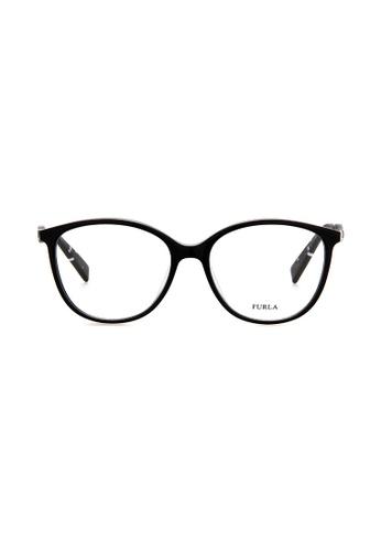Furla Furla VFU029 Black Eyeglasses  FU454AC0RAMGMY_1