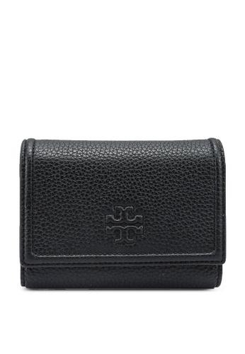 TORY BURCH black Thea Medium Flap Wallet (NT) A4D45AC8C63137GS_1