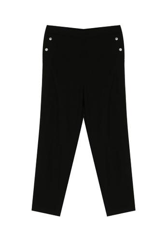 LC Waikiki black Ankle Length Tapered Slacks 656FCAA6454769GS_1