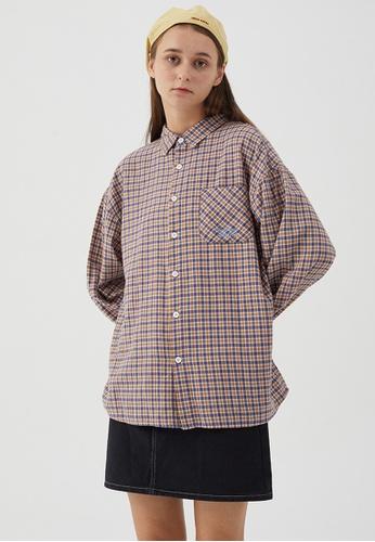 Twenty Eight Shoes Loose-Fitting Plaid Shirt HH0815 2A9B2AA20302CEGS_1