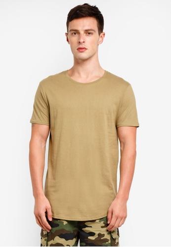 Factorie 綠色 Curved T Shirt 1279DAAA2EE1E0GS_1