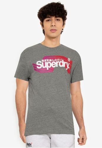 SUPERDRY grey Core Logo Cali Tee - Original & Vintage E6D1AAADE5A82BGS_1