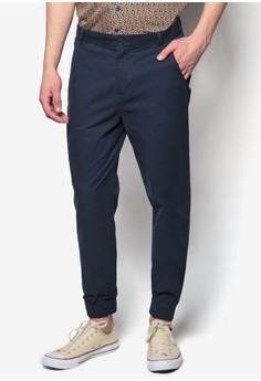 Cuffed Cotton Chino Pants