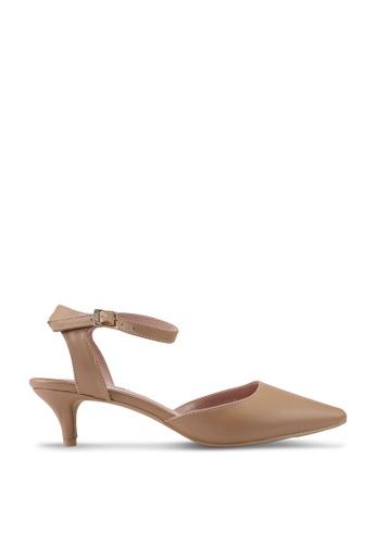 nose 米褐色 Ankle Strap Heels 54BD0SH21D1194GS_1