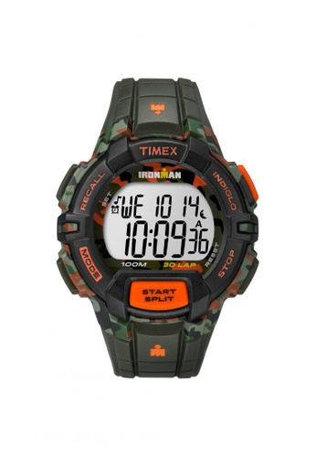 TIMEX green Timex IRONMAN® Rugged - 30 Full-Size - Camo Resin Strap (TW5M02000) TI857AC55ZNWSG_1