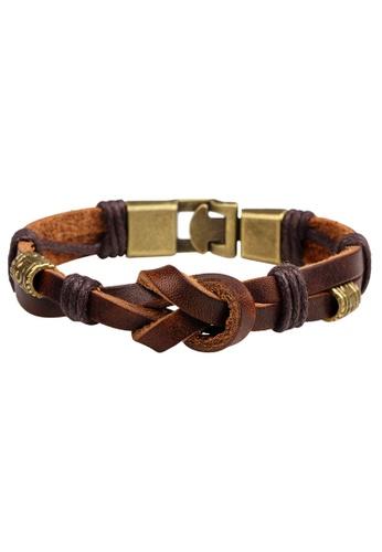 HAPPY FRIDAYS Vintage Leather bracelet QNW2229 57D6EAC24CE8D3GS_1