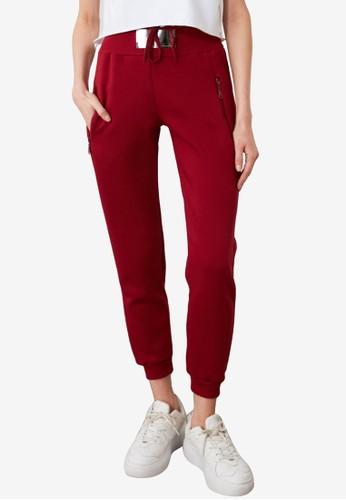 Trendyol red High Waist Sweatpants 62361AA6CBB72FGS_1