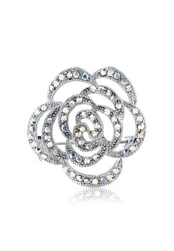 SO SEOUL silver Camellia Flower Brooch 002E8ACE3638E8GS_1