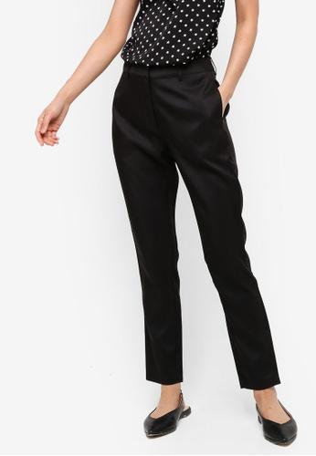 ZALORA BASICS black Basic Tailored Work Pants 00D2FAA6EE4CBCGS_1