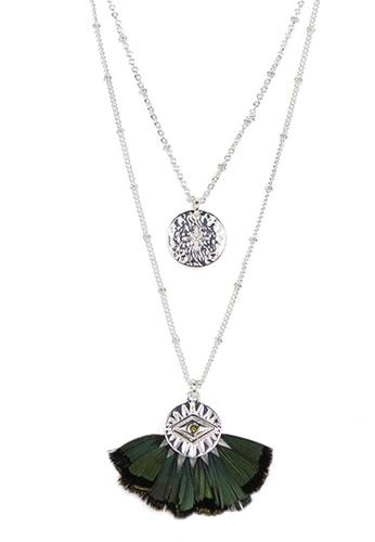 HIPANEMA multi double layers necklace Tal khaki 2B514AC7633D87GS_1