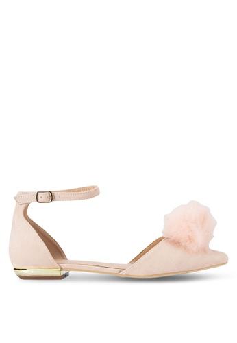 Miss KG beige Goldie Ballerina Flats MI302SH30XQJMY_1