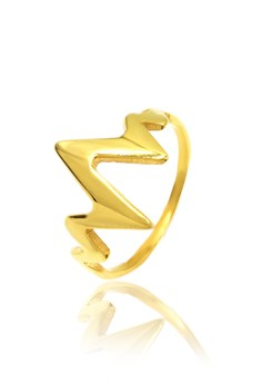 Gold Plated Lifeline Ring