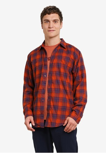Patagonia red and multi Long Sleeve Pima Cotton Shirt PA549AA0RQDGMY_1