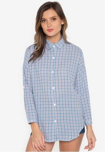 Chase Fashion blue Plaid Flannel Shirt CH547US0K36YPH_1