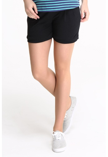 Bove by Spring Maternity black Woven Shorts Fine Twill IB1701 SP010AA65IXASG_1