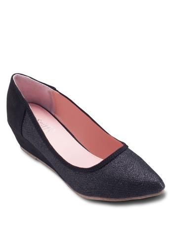 暗紋尖頭楔形鞋,esprit outlet 桃園 女鞋, 鞋