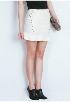 Rivets In Fishtail Skirt