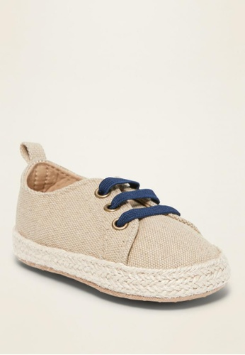 Old Navy beige Twill Espadrille Sneakers for Baby 7580FKSAE873DBGS_1