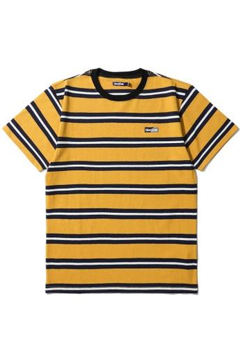 BLOCKAIT yellow Stripe logo tee 62F68AA197E409GS_1