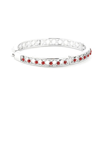 Glamorousky red Elegant Bangle with Red Austrian Element Crystals 772C3AC0A9D534GS_1