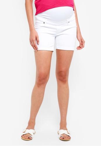 Envie De Fraise white Maternity Short Jean Shorts 557CCAA5D2FBCDGS_1