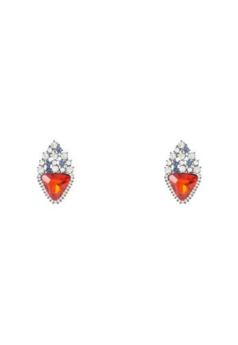 三角形鉚釘閃飾耳墜, 飾品配esprit outlet 台中件, 飾品配件